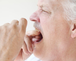 photo of man with dental emergency