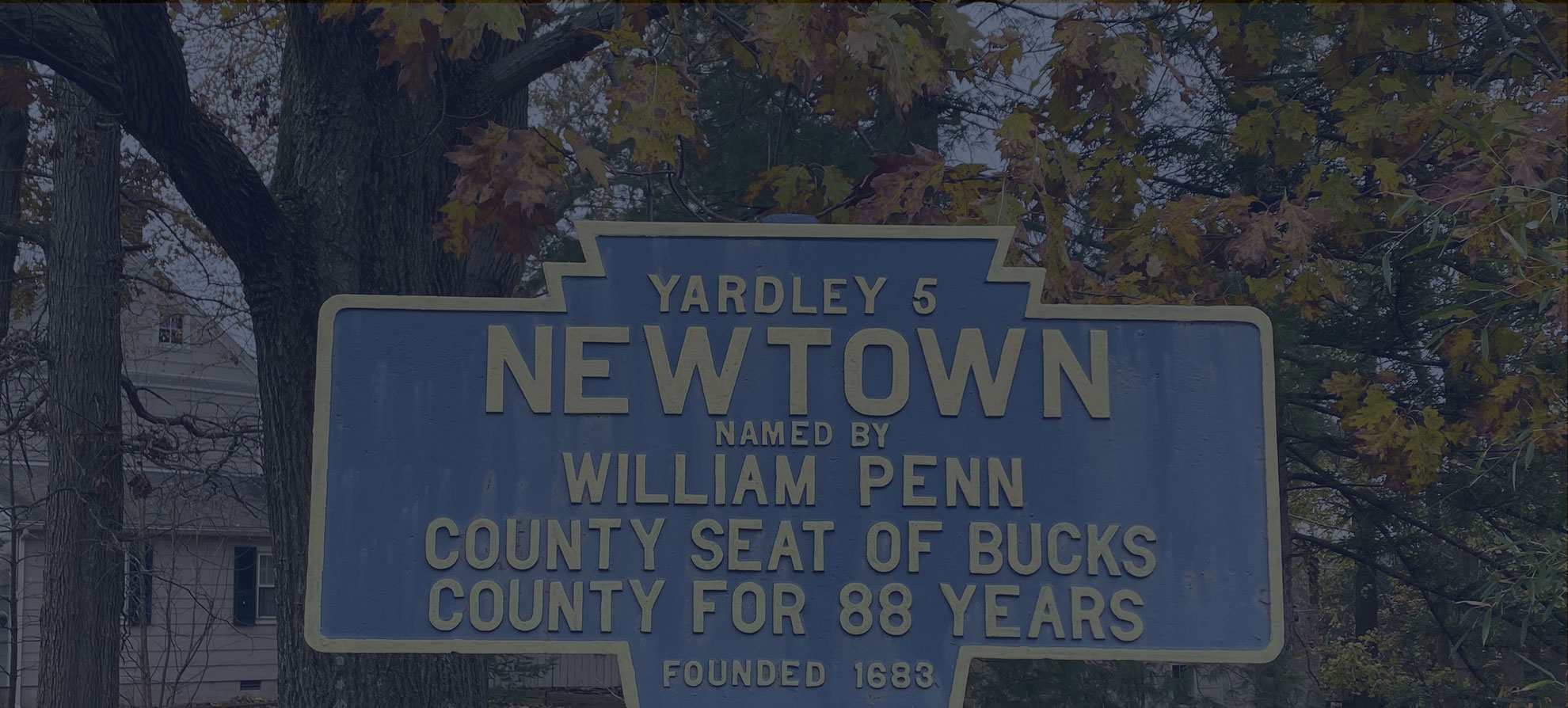 banner background of newtown sign